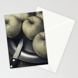 Still life with green apples Stationery Cards