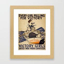 Vintage poster - Victory Girls Framed Art Print