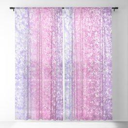Unicorn Girls Glitter #6 #shiny #decor #art #society6 Sheer Curtain