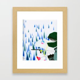 Say Sorry. Framed Art Print