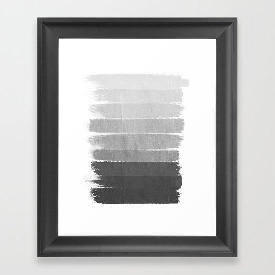 Brushstroke - Ombre Grey, Charcoal, minimal, Monochrome ...