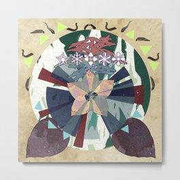 Leech & Flower Metal Print