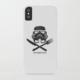 Eat Geek Play Logo iPhone Case