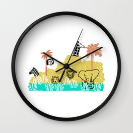 Meanwhile in Africa Wall Clock