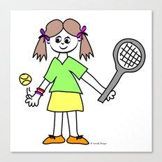 Tennis Girl Canvas Print