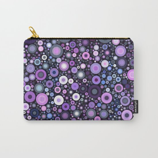 Lavender Bubbles at Midnight Carry-All Pouch