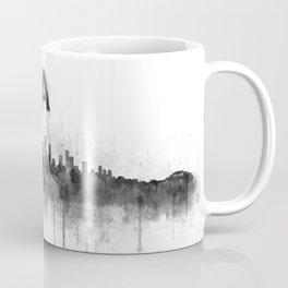 Los Angeles City Skyline HQ v5 BW Coffee Mug