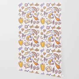 Cute Hand Drawn Food Restaurant Pattern Wallpaper