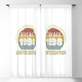 23 Year Old Gifts Vintage 1998 Limited Edition 23th Birthday Blackout Curtain