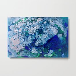 Imagined Ocean View From Above Metal Print