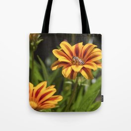 Beautiful Flower with Bee Tote Bag