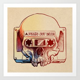 Audio Skull Art Print