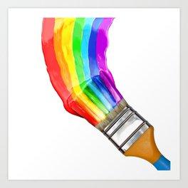 Multicolor brush Art Print