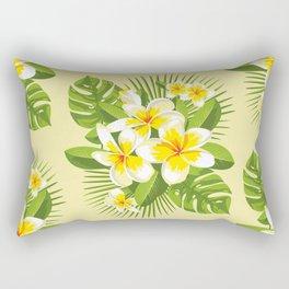 Tropical Bouquet. Plumeria Rectangular Pillow