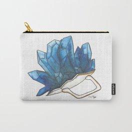 Blue Broken Teacup Geode Carry-All Pouch