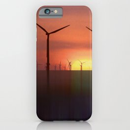 Wind Farms (Digital Art) iPhone Case