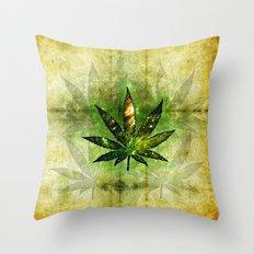 Marijuana Leaf - Design 3 Throw Pillow