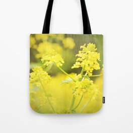 Floral Page Tote Bag