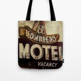 Vintage El Sombrero Motel Sign Tote Bag