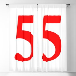 5 (RED & WHITE NUMBERS) Blackout Curtain