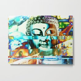 Glitch Buddha #3 Metal Print