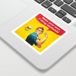 Make your own f*cking sandwich! Sticker