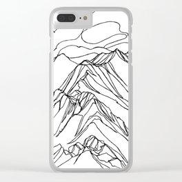 Ymir Mountain Ridges :: Single Line Clear iPhone Case