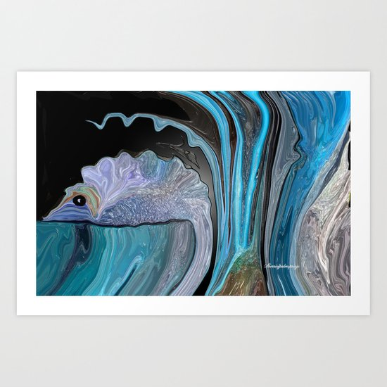 "Swishy the Fishy, Wants Someone To ""Take Me Home"" Art Print"