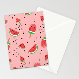 Summer Watermelon Ice Cream Stationery Cards