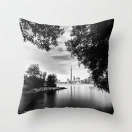 Toronto Black and White Throw Pillow