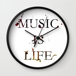 Music is life Wall Clock