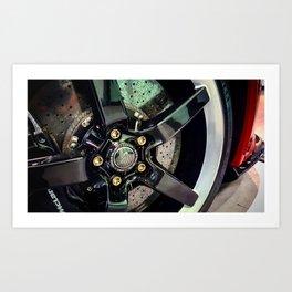 Can-Am McLaren 650S Spider wheel Art Print