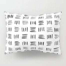 Lines on Lines // Black Pillow Sham