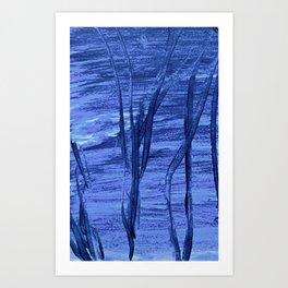 night swim - malibu Art Print