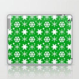 Snowflakes Green Laptop & iPad Skin