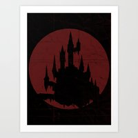 castlevania Art Prints featuring Castlevania by Cameron Latham
