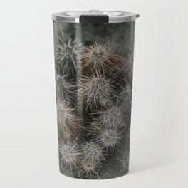 Monochrome Cactus in Joshua Tree National Park, California Travel Mug