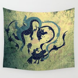 myth of dragon and the Phoenix Wall Tapestry