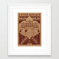 propaganda Framed Art Prints featuring Dalek propaganda by Buby87