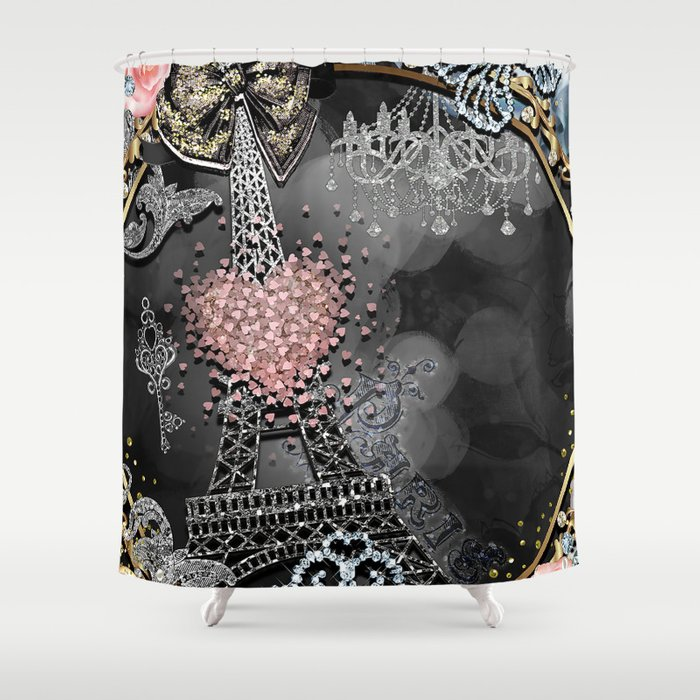 Paris Bling Shower Curtain By Christyne