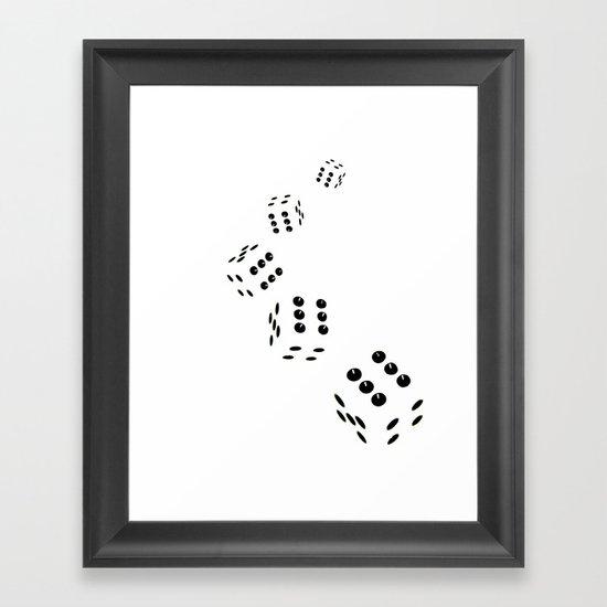 Tumbling Dice Chain White Framed Art Print