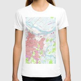 Vintage Map of Savannah Georgia (1955) 2 T-shirt
