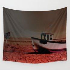 Deseert Boat Wall Tapestry