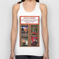 cinema Tank Tops featuring VEGAS CINEMA!!! by Party Dragon