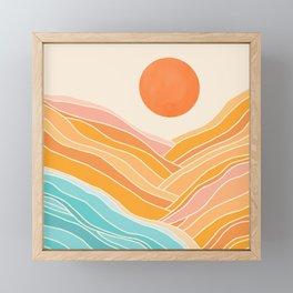 Adventure On The Horizon / Abstract Landscape Framed Mini Art Print