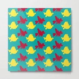 The Little Mermaid - #Flounder & Sebastian Metal Print