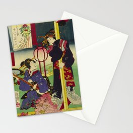 A day of twelve months in Yoshiwara Stationery Cards