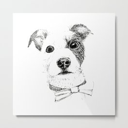 Jack Russell - Bo with a Bow Tie Metal Print