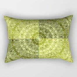 Olive mandala Rectangular Pillow