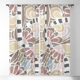 Doodle Spring Sheer Curtain